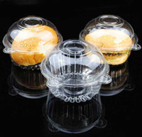 Wholesale X Individual With Hat Plastic Disposable Plastic Cake Container Cupcakes Packaging Box