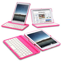 Wholesale Details about Aluminum Swivel Rotating Stand Case Cover Bluetooth Keyboard For iPad Mini