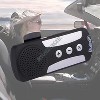 Wholesale Hot Wireless Bluetooth Handsfree Speakerphone Car Speaker Kit With Car Charger Visor Clip Bluetooth Handsfree Kit B6
