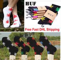 Free fast DHL HUF Socks Plantlife 420 Marijuana Socks Weed L...