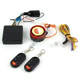 Sistema de alarma antirrobo Sistema de alarma de seguridad para la motocicleta y del motor eléctrico del coche con 12V remoto inalámbrico 14744 B2 desde sistema de alarma a distancia un coche proveedores