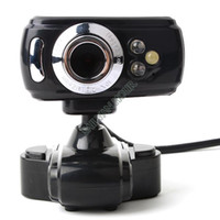 Wholesale 2014 New Arrival USB HD Webcam Camera Web Cam Digital Video Webcamera with MIC for Computer PC Laptop Black SV004161