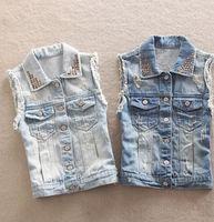 blue jean jacket - high street denim vests waistcoat autumn summer denim vest new blue jean jackets women clothing sleeveless coat for woman