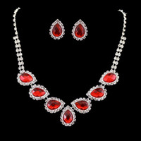 asian cheongsam - Brief red necklace bridal jewelry accessories formal dress cheongsam chain sets set hhs38