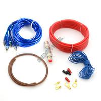 Cheap Car Amplifier Set Line Subwoofer Set Line Car Audio Cable Audio Wire Power Amp + 8 Gauge GA #012 TK1106