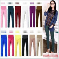 Wholesale Korea Autumn Pregnant Women pencil pants Fashion Hot Sale Casual Maternit Pants Leggings Ladies High Quality Pregnancy Pants Colors E0698