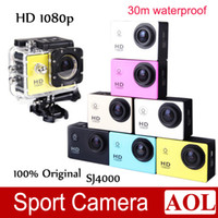 Wholesale Sports Camera Waterproof P Full HD H MP Car Recorder Bicycle Helmet Camera Sports Action Video Camcorder m Diving Car DVR SJ4000
