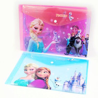 Wholesale Frozen Cartoon A4 File Folder Color Plastic File Papers Holder Student Stationery School Supplies SK125