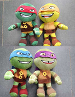 Free shipping EMS 33cm Ninja Turtles plush toys action figur...