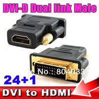 Cheap 10pcs DVI-D Male 24 + 1 pin HDMI Female 19 pin Adapter HDMI to DVI Gold Connector for HDTV PC Moitor LCD for PS3 for XBOX 360