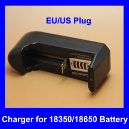Rechargeable 18350 18650 Lithium Battery Charger Dry Li-ion Battery US EU Standard Wall Charger for Electronic Cigarette kit Mod ecig