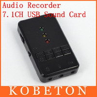 Wholesale Newly External USB Virtual Channel D Audio Sound Card Converter Adapter Audio Recorder Card