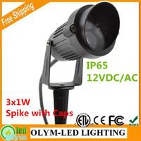 Wholesale 20X Outdoor W IP65 V LED Garden Light Aluminum Waterproof LED Garden Pond Path Landscape spot lights