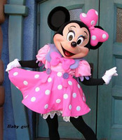 Wholesale 2014Wedding Minnie Mascot Costume Pink Minnie Mouse Mascot Costume