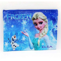 Wholesale Frozen Cartoon File Folder Lovely Blue Stationery Storage Bag File Holder School Supplies SK197