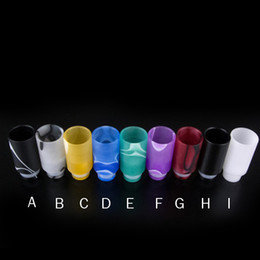 Electronic Cigarette 510 Drip Tips With Wide Bore Shape Acrylic Atomizer Mouthpiece Fit CE4 Vivi Nova Protank Evod Electronic Cigarettes