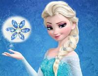 Wholesale Women bridal wedding hair jewelry Frozen Elsa snowflake hair clips girl rhinestone diamond screw clamp hairpin Cartoon COSPLAY party tiaras