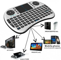 Wholesale Hot Portable G Rii Mini i8 Wireless Keyboard Mouse Combo with Touchpad for PC Pad Google Andriod TV Box Xbox360 PS3 free by DHL
