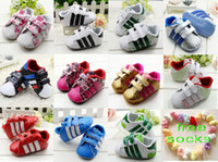 Wholesale 8 off free socks gift sale Brand shoes Exquisite Non slip soft bottom toddler shoes Baby Shoes DROP SHIPPING hot sale pairs