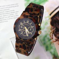 Cheap Unisex Wristwatches Clock hours Sports Watch Analog KINGSKY Quartz movement New 2014 Leopard Pattern Dropship