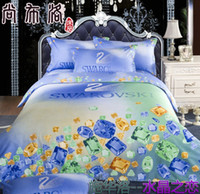 home bedding - Bedding Set Lady bed linen Home textile Reactive Print luxury Duvet Cover Bed sheet roupa de cama DHL