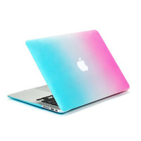 Wholesale Colorful Rainbow Frosted Matte Surface Hard Protective Case Cover for Macbook Air Pro with Retina inch Laptop Sleeve Cover