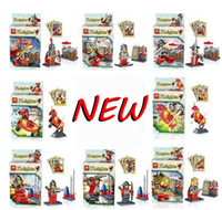 Wholesale The ancient castle series toys war horses assembling building block minifigures trump red medieval cavalry man ZI century