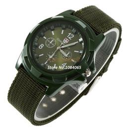 Wholesale-New Arrival Men's Fabric Strap Watch Elegant Men Watch Quartz Wrist Watches Watch #12 18269