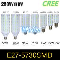 Wholesale LED Corn Lamps SMD w w w w w w w w E27 E14 B22 Light LED bulb lamp