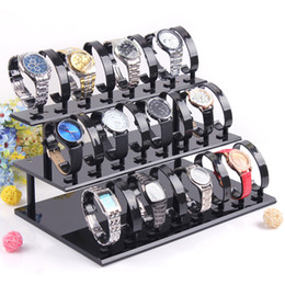 Acrylic Three Layer Removable Watches Bracelet Jewelry Display Stand Luxury Watch Storage Show Stand Rack Holder