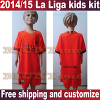 kids jerseys - New Barca away Kids MESSI Soccer Jersey Short Kits Barca Youth boys child Top Thai Jersey
