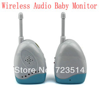 Cheap Wholesale-OP-Brand Wireless Portable Audio Baby Monitor F2060B Temperature Bed-wetting Vibration Alarm voice transmission sound free shippin