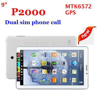 "Cheap Big discount!!Hot! 9"" P2000 GSM phone call tablet pc MTK6572 dual SIM card dual core dual camera 512M+2G GPS free shipping!!"