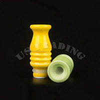 Wholesale E Cigarette Atomzier Drip Tips Porcelain Drip Tip Mouthpiece Vase Shape for Protank Aerotank Machanical Mod Atomzer Multicolor for E Cig