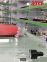 Wholesale 30ml clear glass bottle for e liquid ecig bottle glass bottle with dropper pure glass ecig liquid bottle with electronchemical seal