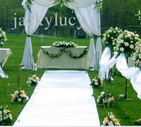 1. 2m wide X 10 m roll New Wedding Favors White Carpet Aisle ...