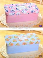 Cheap 1pcs 160g New Fshion Flower Life Style Double-deck Tinplate Pencil case Pen box Fashion Wholesale K224