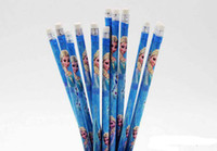 Wholesale Fashion wooden children frozen pencils Elsa Anna princess cartoon frozen Pencils with eraser