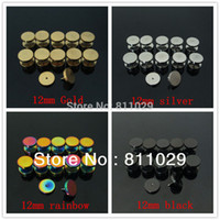 Wholesale OP piercing mixed colors and mixed gauges lllusion cheaters stainless steel plain screw on ear Fake Plugs