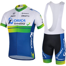 ORICA GREENEDGE 2014 Mountain Racing Bike Cycling Clothing Set Breathable Bicycle Cycling Jerseys Ropa Ciclismo Short Sleeve Cycling Sportsw