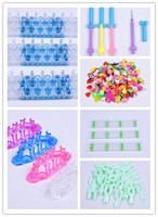Cheap Affluent Rainbow Loom Bands Accessary Monster Tail Looms+Metal Hooks+Loom Boards+Charms for Kid DIY Make Rainbow Loom Bracelets
