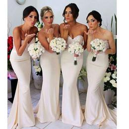 Wholesale 2014 Hot Sales Mermaid Bridesmaid Dresses Sweetheart Sleeveless Satin Ruffles Bead Sequined Crystal Sweep Train Elegant Formal Gowns