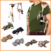 ambidextrous holster - OP Tactical Army Horizontal Ambidextrous Pistol Shoulder Holster w Double Mag Pouch