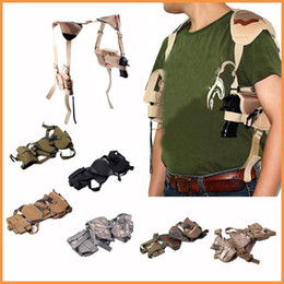 Wholesale OP Tactical Army Horizontal Ambidextrous Pistol Shoulder Holster w Double Mag Pouch