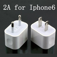 Cheap 5V 2A iPhone6 Home Wall Charger Fast Speed Brick US EU AC Travel USB Adapter for iPhone 6 5S Samsung GALAXY S4 S5 Note Mobile Phone DHL