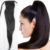 Wholesale brazilian malaysian Indian Peruvian virgin hair weave pc a human hair ponytail silk straight hair tape clip in on hair extensions