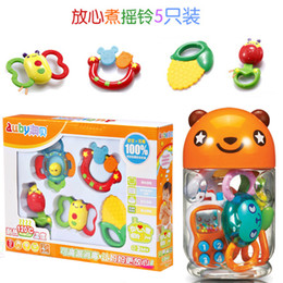 Wholesale OP Rattles canned gift boxed child puzzle baby teethers plastic toy gift t108