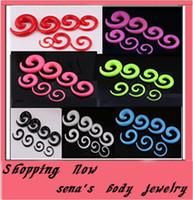 Wholesale OP P25 mix MM spiral ear taper body jewelry acrylic ear plug tunnel