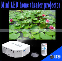 Wholesale Portable Mini HD LED Projector Cinema UC30 Projector Theater PC Laptop VGA USB SD AV input