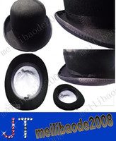 100% wool suits - fashion black bowler hats for ladies and men wool felt suit for winter fall spring with leater sweatband and fedora MYY2250A